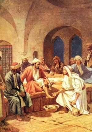 Jesus lavando los pies