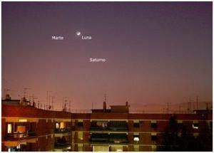 Luna, Marte y Saturno