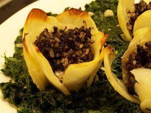 Flor de patata con morcilla (1)