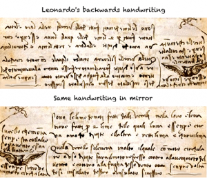 Escritura de Leonardo