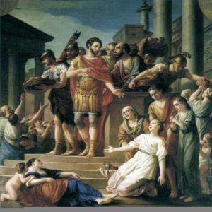 nb pinacoteca vien joseph marie marcus aurelius distributing bread to the people 300x300 Imperator Caesar Marcus Aurelius Antoninus Augustus