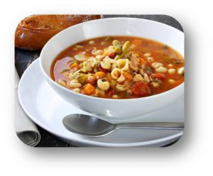 Sopa de Minestrone-Cocinando