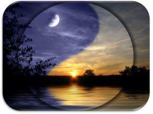 paisaje con el ying y yang