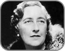 gatha Christie, escritora de novelas de misterio británica.