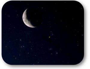 luna. marte y regulo