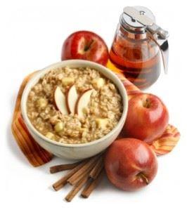Avena con manzana y miel