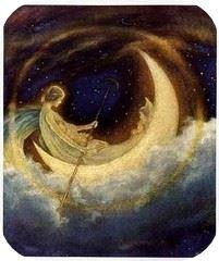 mesiendose en una Luna Nueva
