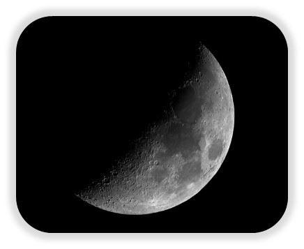 luna en su primer cuarto