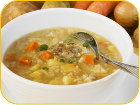 sopa de cebada y hortalizas