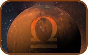 Marte signo de accion en Libra