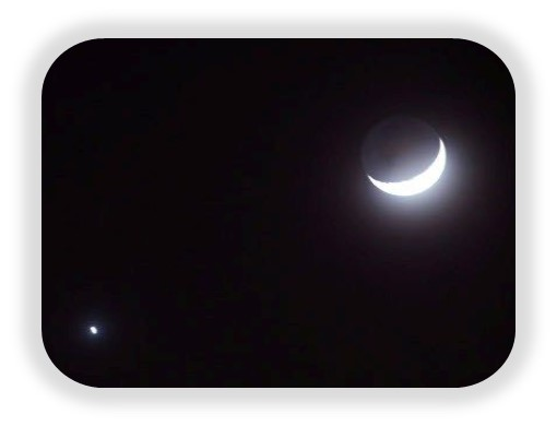 venus y la luna maximo brillo Venus alcanza su máximo brillo