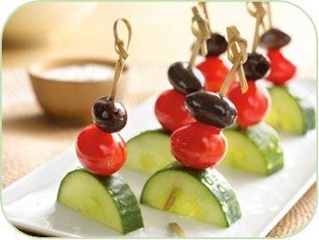 Pinchos de pepino y tomate